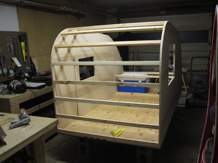 Teardrop Trailer Build Pictures