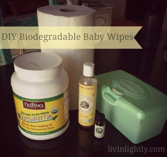 Homemade Biodegradable Baby Wipes